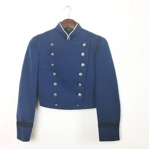 Vintage Womens Blue Parade Uniform Jacket