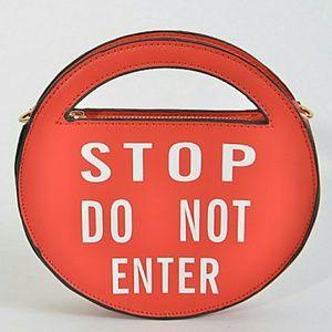 Handbags - Stop Do Not Enter Clutch