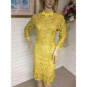 Dresses & Skirts - Lace Overlay Midi Dress (Small) NWOT