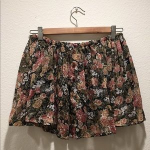Brandy Melville Button Up Floral Skirt
