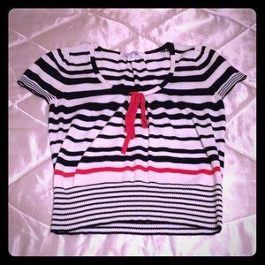 Dress Barn petite medium, short sleeve knit top.