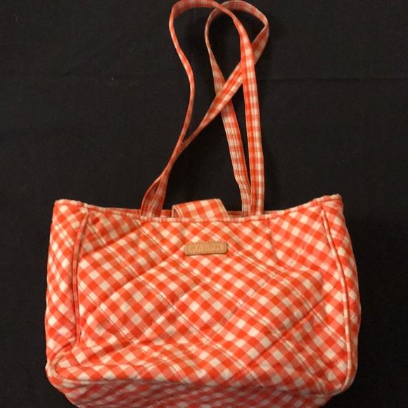 ... RALPH LAUREN  orange checkered bag. M 59b4bb75c6c79542a902f7e0 de8f00589f0b5