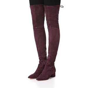 Sigerson Morrison Wine Suede Over the Knee Boots