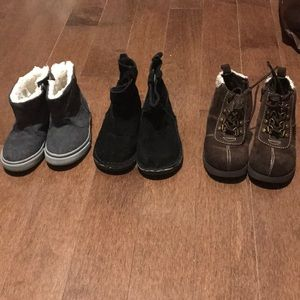 Warm boots for toddler boys