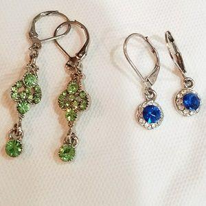 Jewelry - 2 SETS OF CRYSTAL EARRINGS