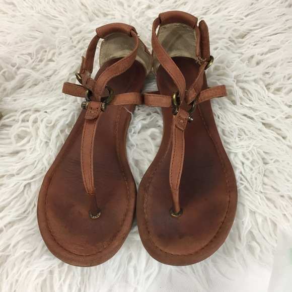 27832a5084e55 Frye Shoes - Frye Madison Strappy Sandals - Leather Brown