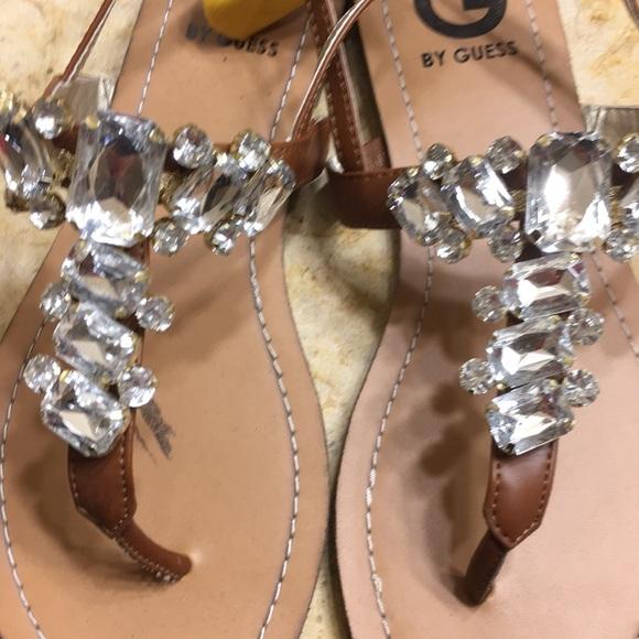 6e0a33713a5a2 G By Guess Silver Rhinestone Sandals