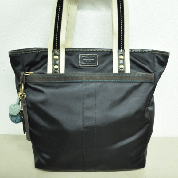 88c26c2a34b Coach Bags   Black Nylon Signature Lined Tote Handbag   Poshmark