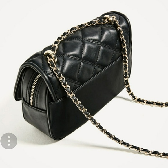 8df7cd2f Zara quilted crossbody bag