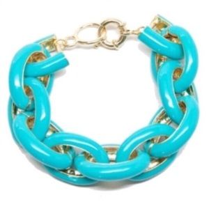 T&J Designs bracelet Enamel Links Turquoise NEW