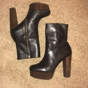 Shoemint Platform Leather Boots 7.5