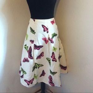 Talbots Women's Butterfly Pleated A Line Skirt