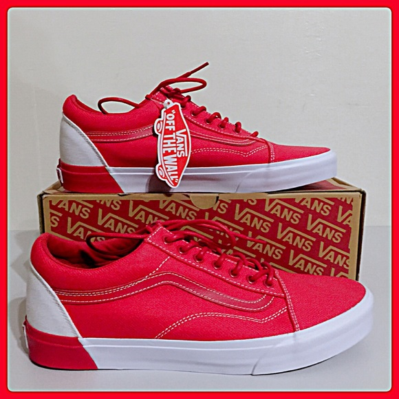 cd453db3da NWT VANS Men s Racing Red Old Skool DX (Blocked). M 59c298c856b2d65053013b50