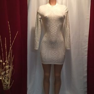 luxealoure. 11. Dresses   Skirts - Gold bedazzled mini dress f02d3bd7e