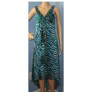 Zebra print high-low dress sz 6