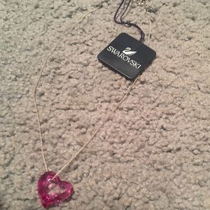 Swarovski heart shaped pendant necklace