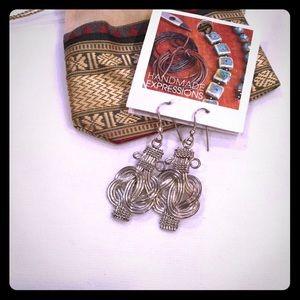 Jewelry - ⭐️️SALE⭐️ Handmade Silver Dangling Earrings ⭐️