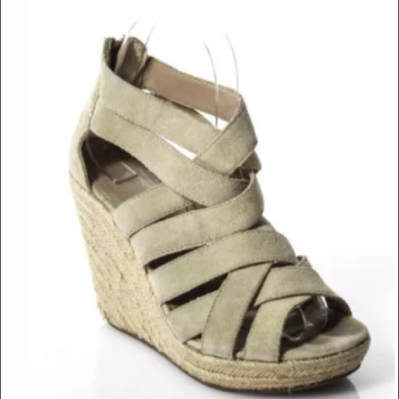 Dolce Vita Shoes - DOLCE VITA TAN SUEDE OPEN TOE WEDGES SIZE 5.5