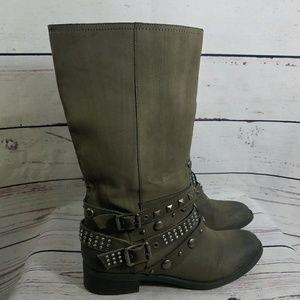 VERA WANG Vegan Gatson Moto Boots  Size 9