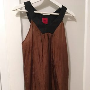 Dresses & Skirts - Brown & Black Silk dress