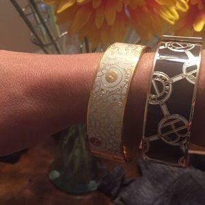 henri bendel Jewelry - Two Henri Bendel bangle logo bracelets