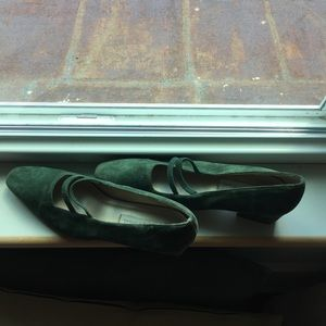 Shoes - Easy elegance- Carriage Court green shoes
