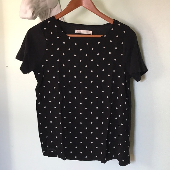f0f3fd399f Madewell Tops - MADEWELL hi-line dressy polka-dot tee M