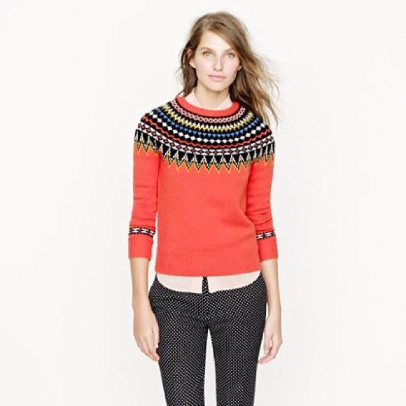 67% off J. Crew Sweaters - J. Crew Fair Isle Ski Sweater from ...