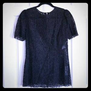 NWT Dolce & Gababana Black Lace Top Size 46