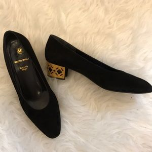 Bruno Magli gold heel shoes size 8/38