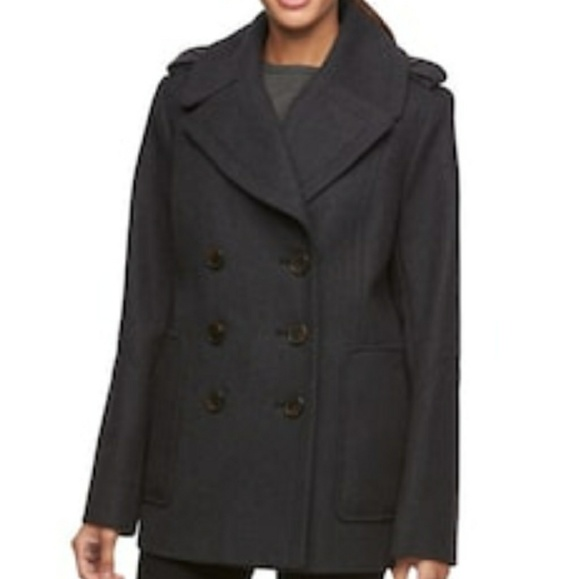 4493ed554385 Croft   Barrow® Double-Breasted Wool Blend Peacoat