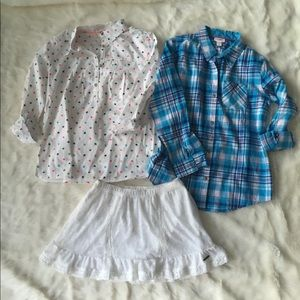 Abercrombie skirt and 2 top Cat & Jack 14-16