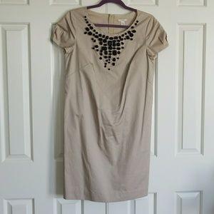 NWT JCrew Khaki Cotton Shift Dress Size 6