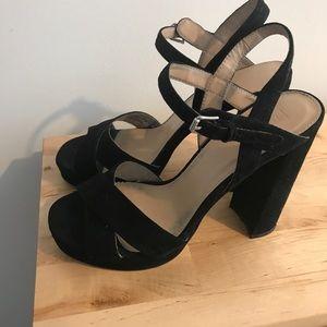 Topshop platform suede high heels sandals