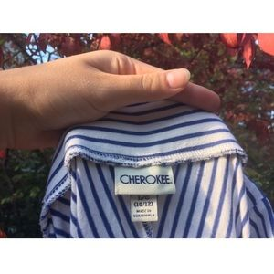 CHEROKEE girls striped blue and white maxi skirt