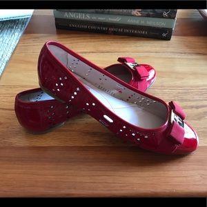 Ferragamo ballet flats - cherry red - size 9.5