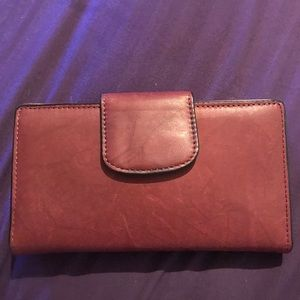 Genuine leather, croft and barrow, brown wallet.