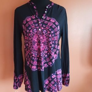 Lucky brand mandala print top medium
