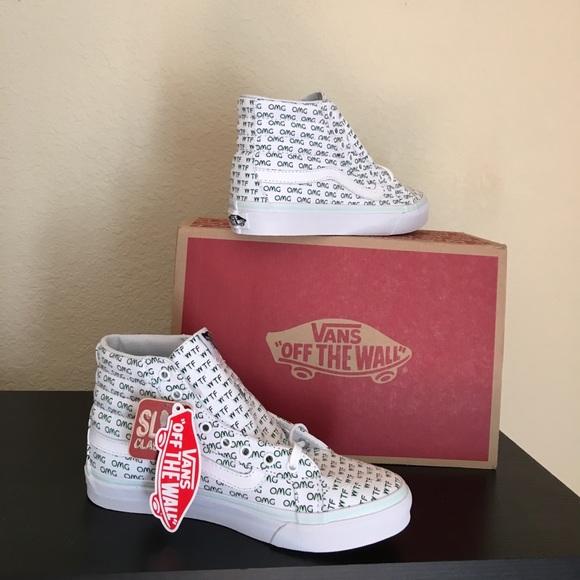 4e1073e65820ea Vans Sayings WTF OMG Shoes New W 7