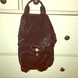 Handbags - Black leather backpack