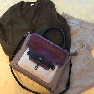 Vince Camuto Max Structured Leather Satchel NWOT