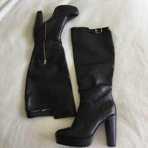 👢 Black Premium Leather Knee High Boots 👢