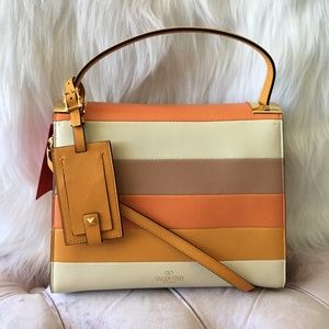 a7fc994801ca ... GUCCI GG Canvas Beige and Brown Leather Cross Body NEW VALENTINO Navajo  Couture Satchel/Crossbody