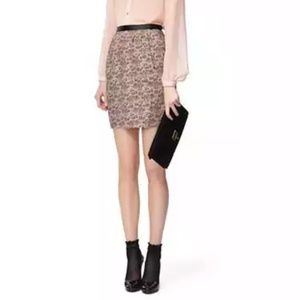 NWOT Jason Wu Lace-Printed Straight Skirt in Blush