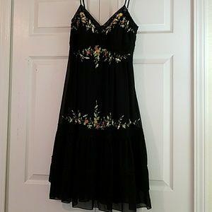 Sue Wong 100% Silk Tiered Flowing Dress