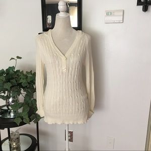 GAP Long Sleeve Sweater with Hoodie