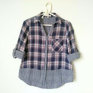 Plaid and Gingham Button Down