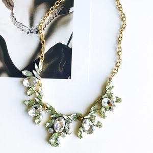 FALLJ. Crew green crystal statement necklace