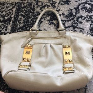 Vince Camuto cream leather bag