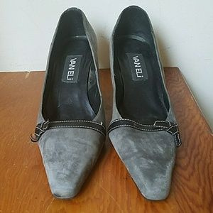 Vaneli shoes, size 7, grey suede